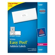 Avery 1 inch x 2 5/8 inch 5260 White Laser Address Labels with Easy Peel, 750/Box by