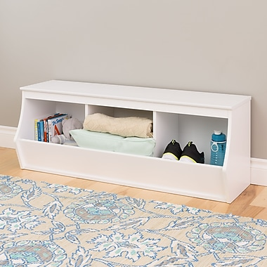 Prepac Monterey Stackable 3-Bin Storage Cubby, White