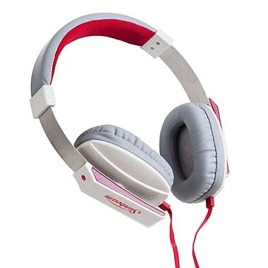 Sunbeam 72-SB650W Stereo Big Bass Headphone with Mic, White
