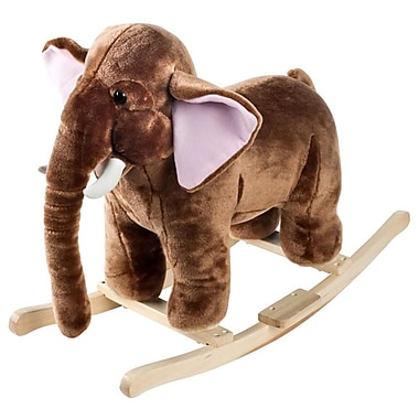 Happy Trails Ride On Plush Rocking Mo Mammoth With Sounds