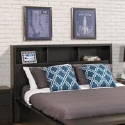 Prepac – Tête de lit District pour lit deux places/grand lit, noir