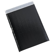 JAM Paper® Bubble Mailers with Peel and Seal Closure, 10 x 13, Black Metallic, 12/pack (2744436)