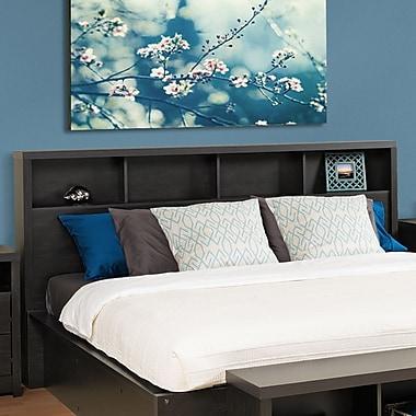 Prepac – Tête de lit District pour très grand lit, noir