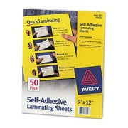 Avery Self-Adhesive Laminating Sheets, 3mil, Letter Size, 50/Pack, (73601)