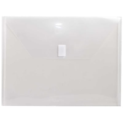 JAM Paper® Plastic Envelopes with Hook & Loop Closure, Letter Booklet, 9.75
