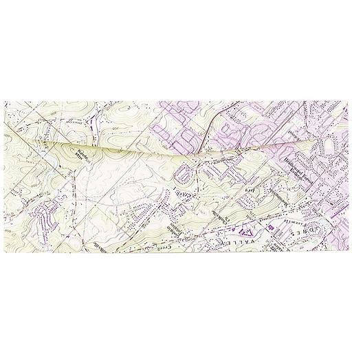 JAM Paper® #10 Map Business Envelopes, 4.125 x 9.5, Cartography Map Design, 50/Pack (163729I)