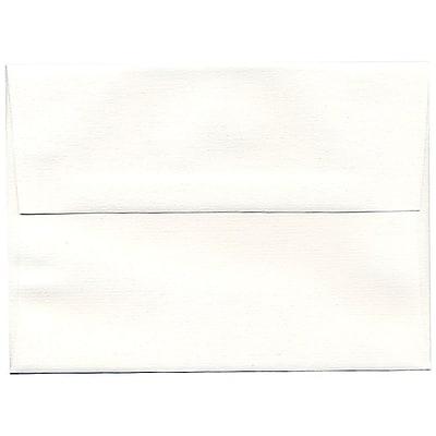 JAM Paper® A7 Invitation Envelopes, 5.25 x 7.25 Strathmore Bright White Pinstripe, 25/pack (43420)