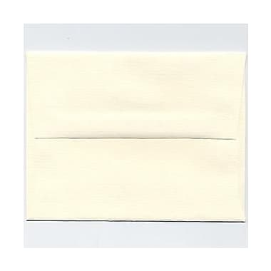 JAM Paper® A2 Invitation Envelopes, 4 3/8 x 5 3/4, Strathmore Natural White Pinstripe, 25/pack (50170)