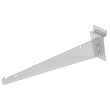 Slatwall Shelf Bracket, Chrome, 14