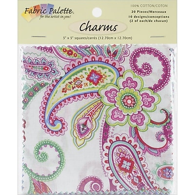 Fabric Palette Charm Pack, Punch of Paisley, 5