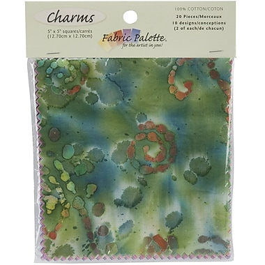 Fabric Palette Charm Pack, Long Road Batik, 5