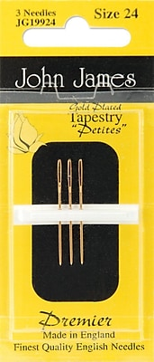 Gold Tapestry Petites Hand Needles, Size 24, 3/Pkg