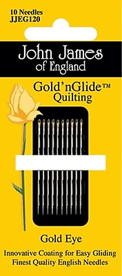 Colonial Needle Gold'n Glide Quilting Needles; Size 9, 10/Pack