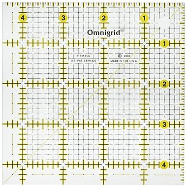 Omnigrip Non-Slip Quilter's Ruler, 12-1/2