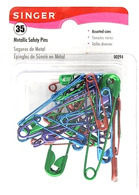 Singer Safety Pins, Assorted Sizes, 35/Pack