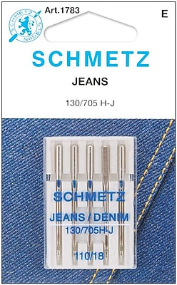 Euro-Notions Jean & Denim Machine Needles, Size 18/110, 5/Pack