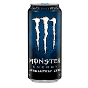 Monster Absolutely Zero Energy Drinks, 16 oz. Cans, 8/Pack