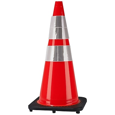 Cortina Safety Cone with 2 Reflective Collars, 28
