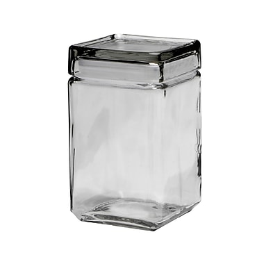 Anchor® Hocking 1.5 qt. Stackable Square Jar, 4/Pack