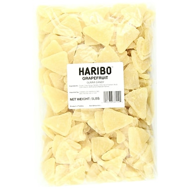 Haribo Grapefruit Sections in a 5 lbs. bag