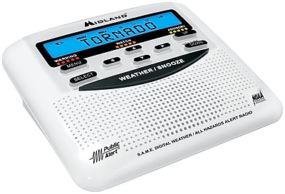 Midland® Emergency Radios, Weather Alert Radio with Alarm Clock