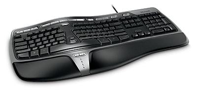 Microsoft®  Natural Ergonomic Keyboard 4000 for Business, Ergonomic Wired Keyboard, Black (5QH-00001)