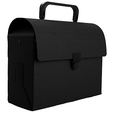JAM Paper® Reusable Plastic Lunch Box, 6 x 9 x 4, Black Kraft, Sold Individually (338566)