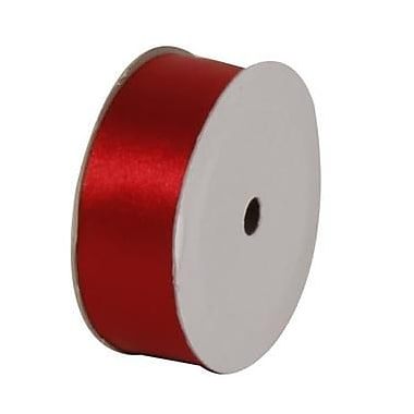 JAM Paper® Satin Ribbon, 7/8 Inch Wide x 7 Yards, Red, Sold Individually (2133716391)