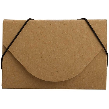 JAM Paper® Kraft Ecoboard Business Card Case, Terracotta Brown Recycled Kraft, Sold Individually (362656)