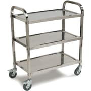 Carlisle 3-Shelf Knockdown Stainless Steel Utility/Service Cart, 400 lb. Capacity (UC4031529)