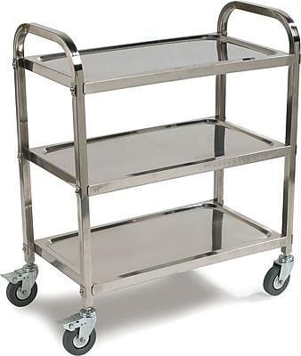 Carlisle 3-Shelf Knockdown Stainless Steel Utility/Service Cart, 400 lb. Capacity (UC4031529)