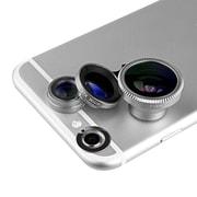Acesori LensKit Smartphone 5-pc Camera kit w/ 3 Lenses, Microfiber Cloth & Carry Pouch, Assorted Colors