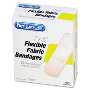 "First Aid Only PhysiciansCare Fabric Bandages, 1"" x 3"", 50Box, Fabric"