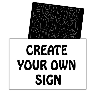 HeadLine® Customizable Sign with Black 1