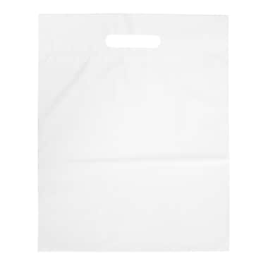 Merangue Die-Cut Plastic Bags, White, 12