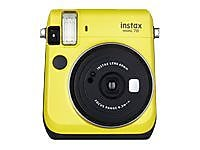Fujifilm Instax Mini 70 Instant Film Camera, 60 mm, Canary Yellow