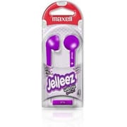 Maxell  (191570) Jelleez Purple Wired Stereo Dynamic Earset