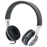 Gear Head  HS3500 Wired Stereo Studio Headphone, Black/Silver