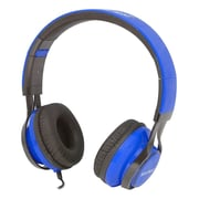 Gear Head (HS3500BLU) Wired Stereo Studio Headphone, Black/Blue