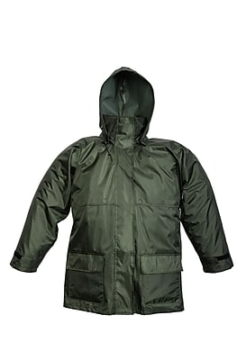 Open Road 150D Ripstop Polyester Jacket With Attached Hood Green (2910JG-XL)