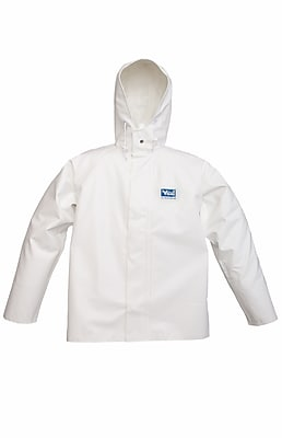 Viking Journeyman 0.45 mm PVC Hooded Jacket White (6125J-S)