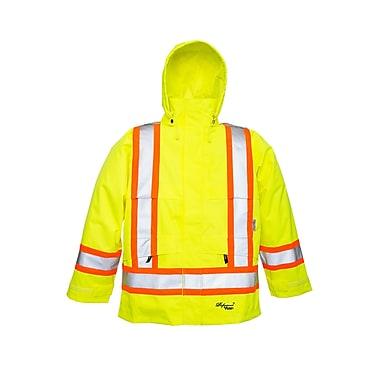 Viking Professional Journeyman Trilobal Ripstop Safety Jacket Green (6330JG-XL)