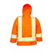 Viking Professional Journeyman Trilobal Ripstop Safety Jacket Orange (6330JO-L)