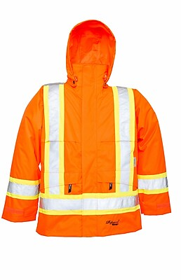 Viking Professional Journeyman Trilobal Ripstop Safety Jacket Orange (6330JO-XXXL)