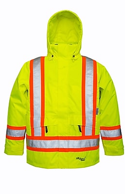 Viking Professional Arctic Tri-zone Trilobal Ripstop Safety Jacket Green (6410JG-XL)