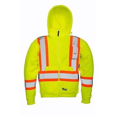 Viking Safety Fleece Hoodie Jacket Green (6420JG-L)
