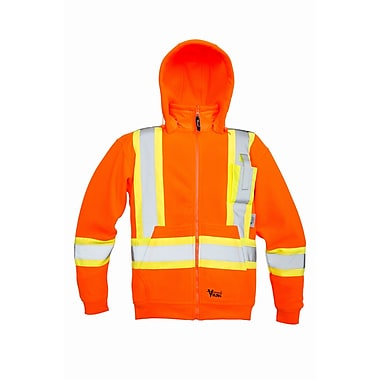 Viking Safety Fleece Hoodie Jacket Orange (6420JO-M)
