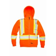 Viking Safety Fleece Hoodie Jacket Orange (6420JO-S)