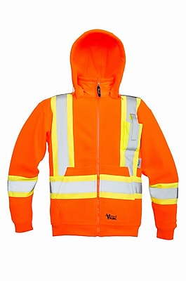 Viking Safety Fleece Hoodie Jacket Orange (6420JO-L)
