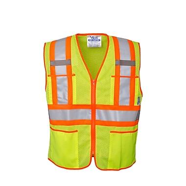 Open Road Zipper Safety Vest Green (U6112G-3XL)